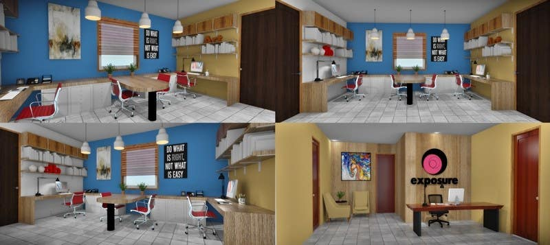 Office Interior Design With 3D Modelling