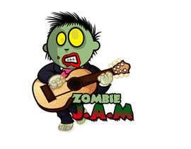 "#7 untuk Design a T-Shirt for a kids' band called ""Zombie J.A.M."" oleh martinareba"