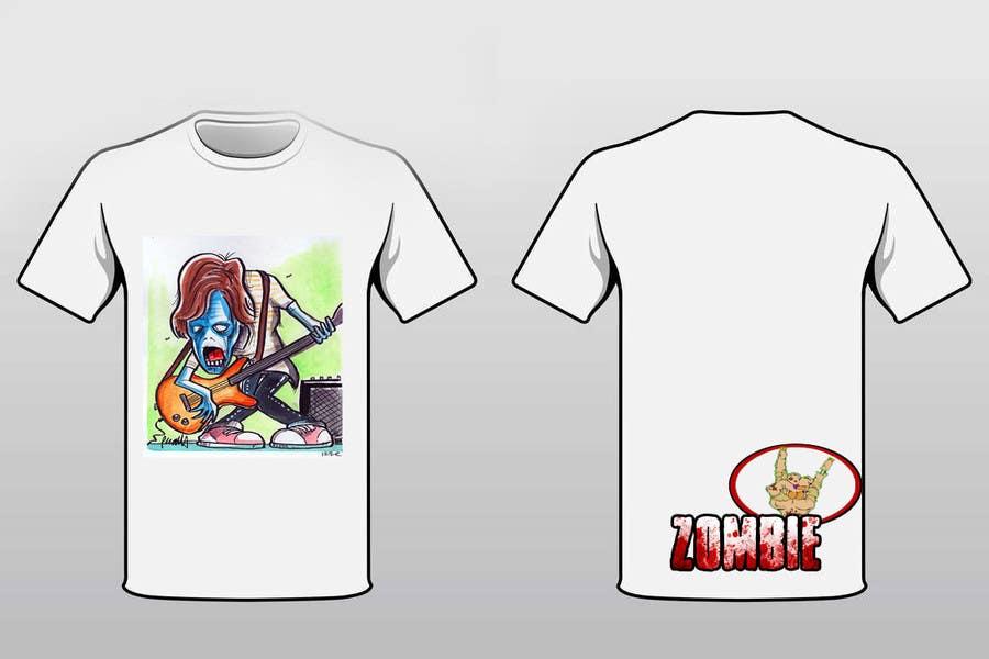 """Penyertaan Peraduan #                                        14                                      untuk                                         Design a T-Shirt for a kids' band called """"Zombie J.A.M."""""""