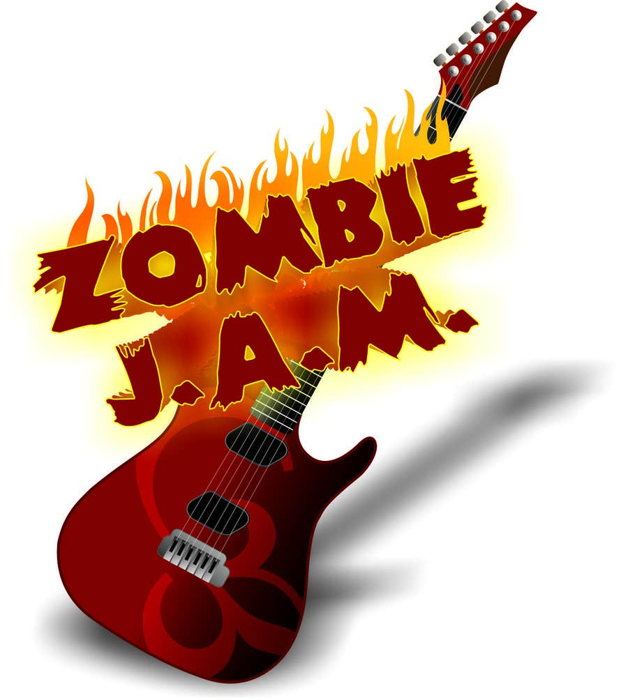 """Penyertaan Peraduan #                                        5                                      untuk                                         Design a T-Shirt for a kids' band called """"Zombie J.A.M."""""""