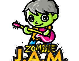 "#10 untuk Design a T-Shirt for a kids' band called ""Zombie J.A.M."" oleh MatiasDC"