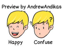 #1 for comic style character (face only) af andrewandikas