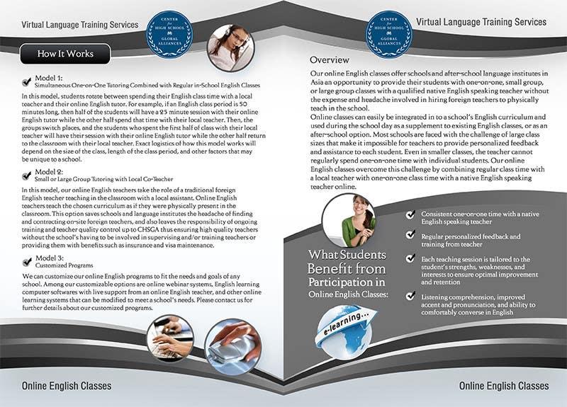 Inscrição nº 20 do Concurso para Brochure Design for Center for High School Global Alliances
