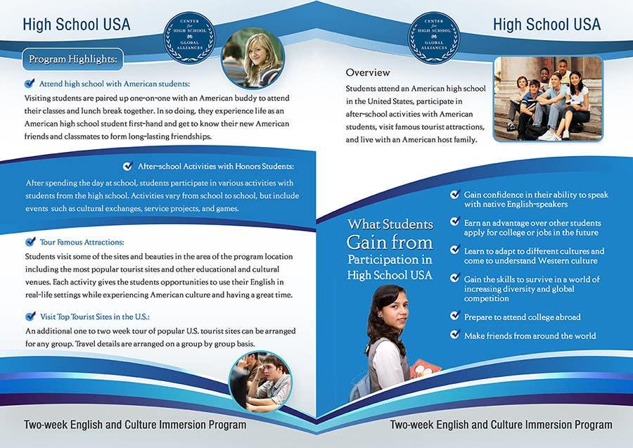 Inscrição nº 14 do Concurso para Brochure Design for Center for High School Global Alliances