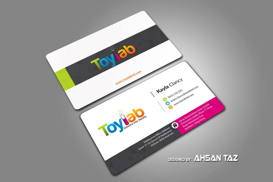 Entry #158 by tazbabu420 for Toylab Needs New Business Cards ...