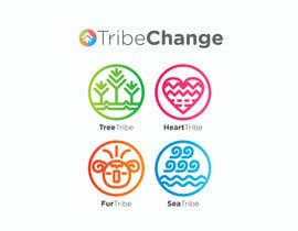 Nro 32 kilpailuun TribeChange Company Logo and Four Icons/ Logos käyttäjältä dighie31