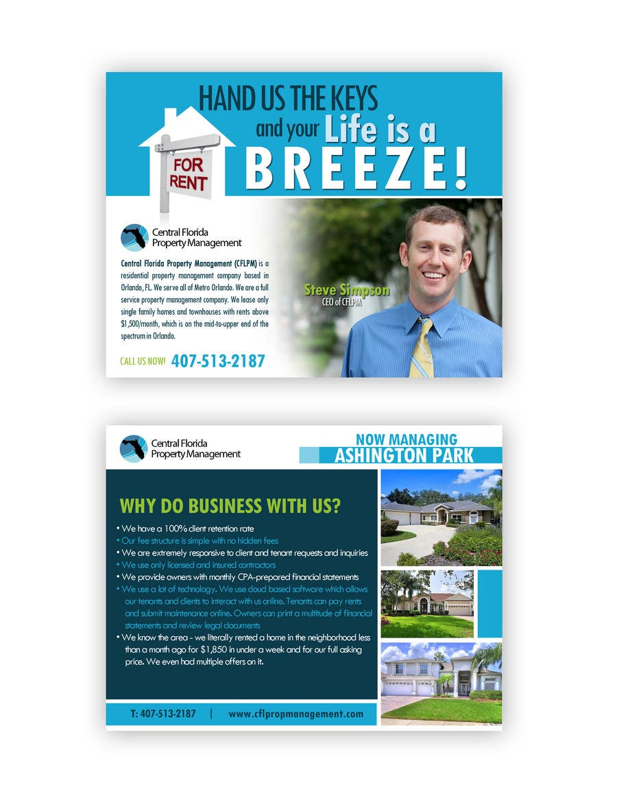 Конкурсная заявка №60 для Ashington Park Flyer Design for Central Florida Property Management