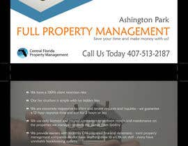 nº 10 pour Ashington Park Flyer Design for Central Florida Property Management par annaputnik