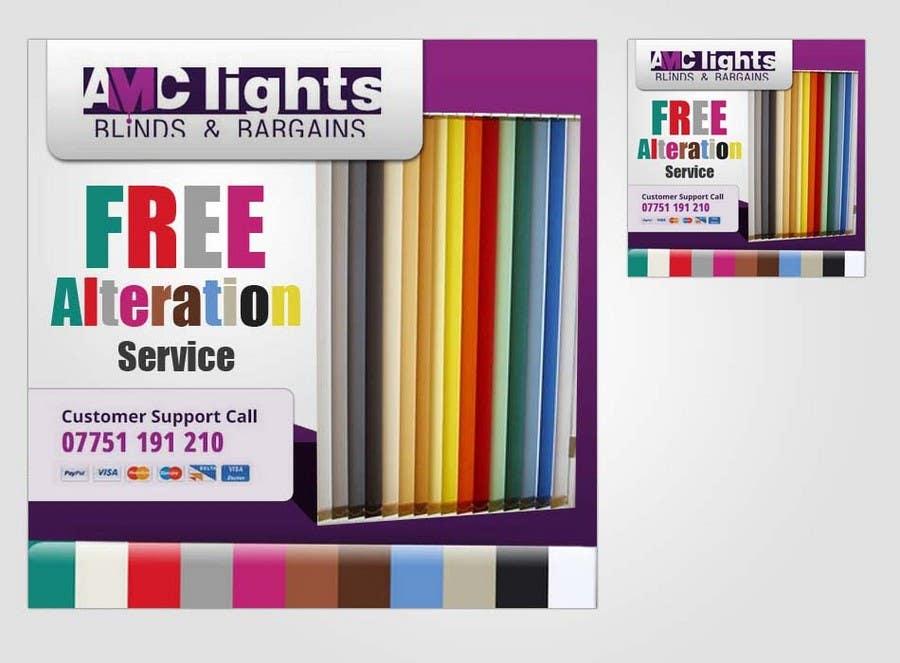 Конкурсная заявка №28 для Graphic Design for AMC Lights Blinds And Bargains