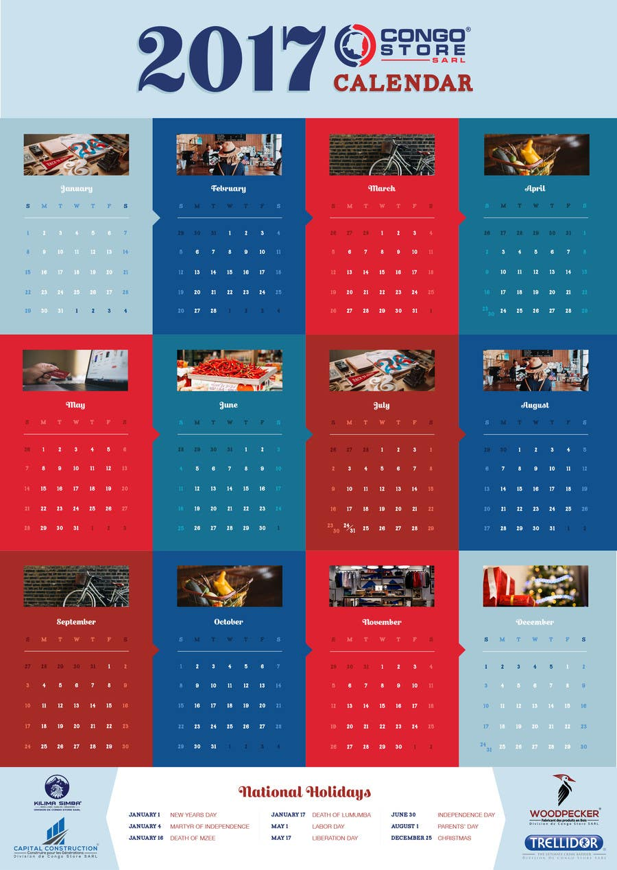 Calendar Design Competition : Design a one page corporate calendar freelancer