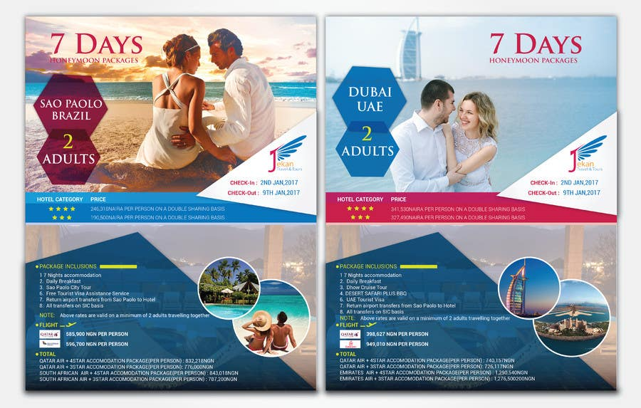 Contest Entry 12 For DESIGN HONEYMOON PACKAGE BROCHURE