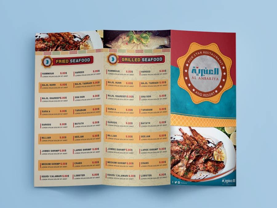 entry 4 by garphicmagic for fine dining restaurant menu design