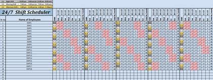microsoft excel scheduler