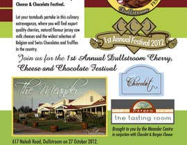 scyan tarafından Flyer & Basic Logo for Dullstroom Cherry Cheese and Chocolate Festival için no 17