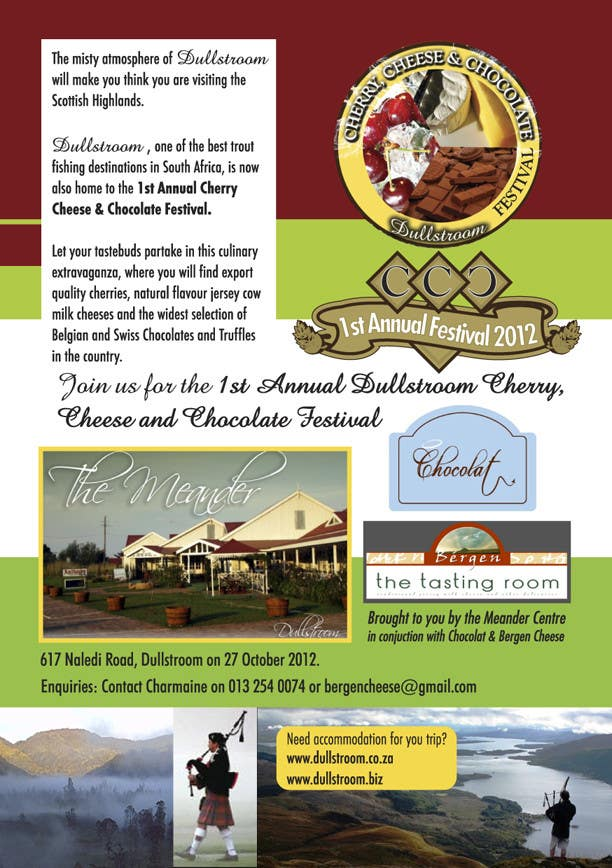 Inscrição nº 16 do Concurso para Flyer & Basic Logo for Dullstroom Cherry Cheese and Chocolate Festival
