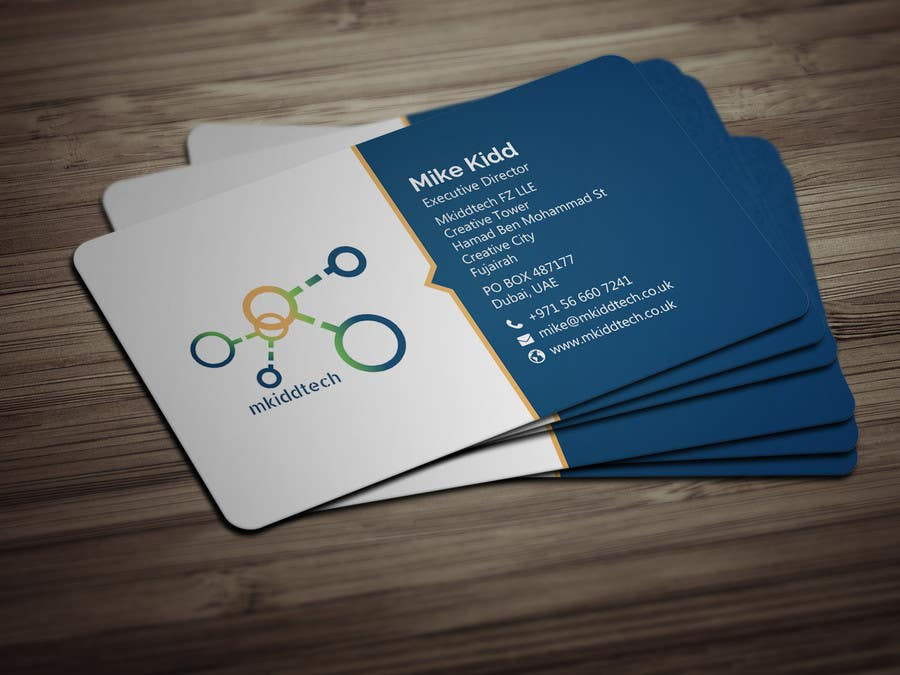 Entry 15 By Bikashbapon For Design A Business Card Template For