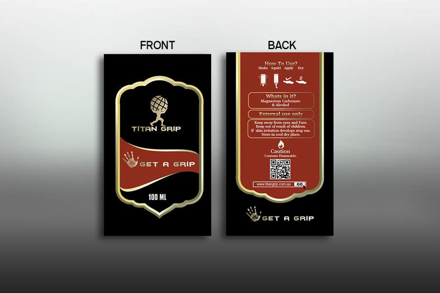Contest entry 18 for create packaging sticker designs for titan grip liquid chalk