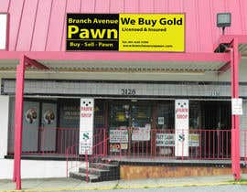 #38 untuk Graphic Design for Branch Avenue Pawn Store Front Sign oleh Rooi