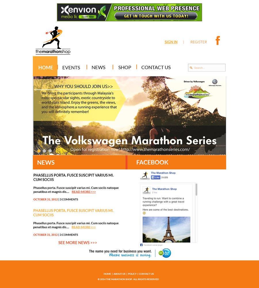 Bài tham dự cuộc thi #                                        37                                      cho                                         Design a Website Mockup for TheMarathonShop