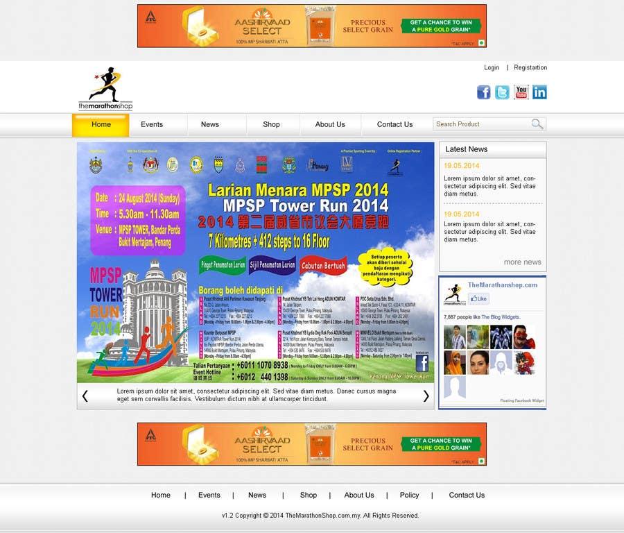 Bài tham dự cuộc thi #                                        6                                      cho                                         Design a Website Mockup for TheMarathonShop