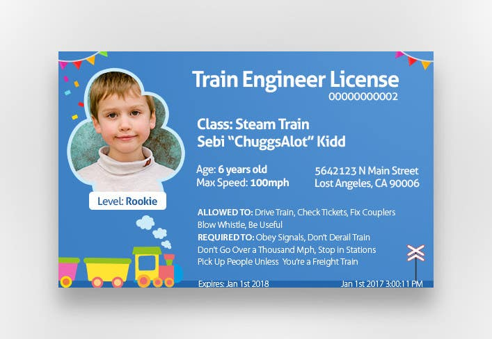 Freelancer By Ekinyalgn Id Create Kids Conductor Entry 12 Train For Card