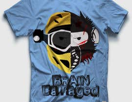 #16 para T-Shirt Design: Brain Damaged por DesignerCS