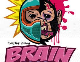 #39 para T-Shirt Design: Brain Damaged por kiekoomonster