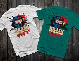 #31 para T-Shirt Design: Brain Damaged por Drhen