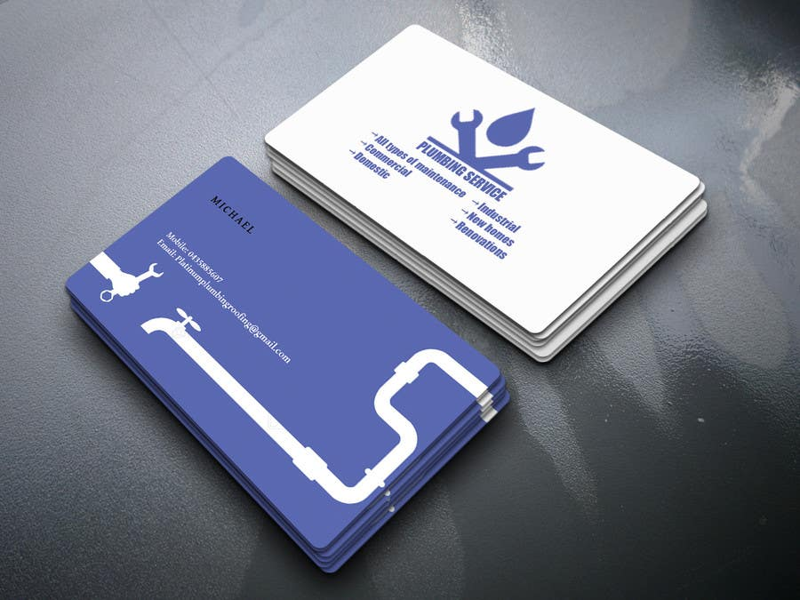 Entry 24 By Mrahman121990 For Design A Plumbing Business Card