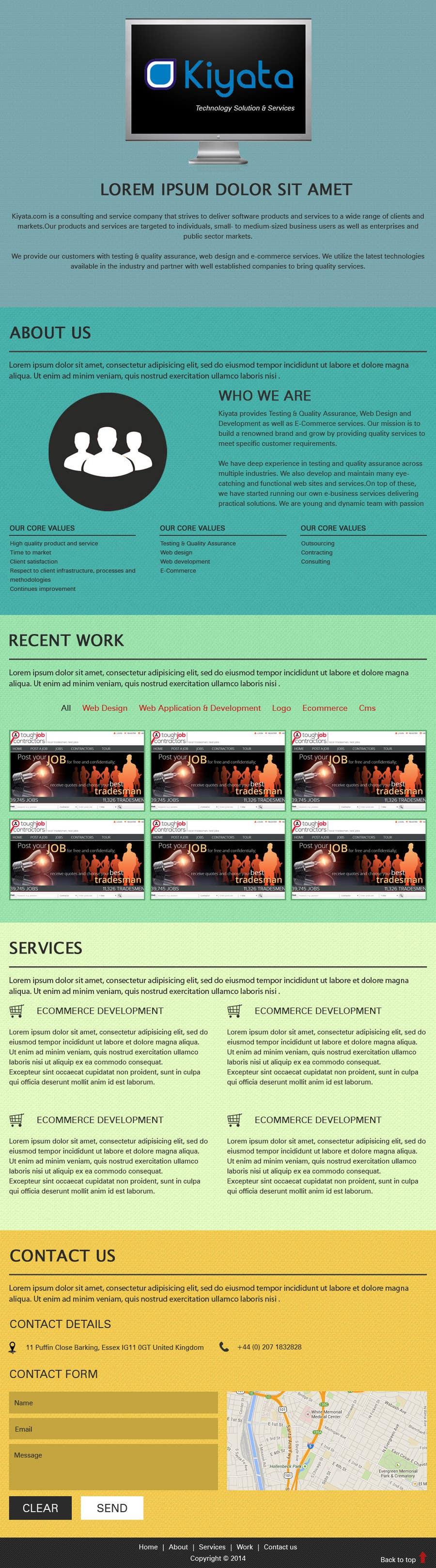 #5 for Design a Website Mockup for http://www.kiyata.com by Shantadeep