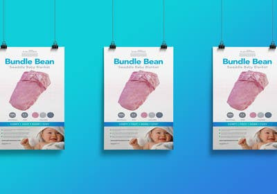 #1 para Retail Store Poster for Baby Swaddle de Nadasol