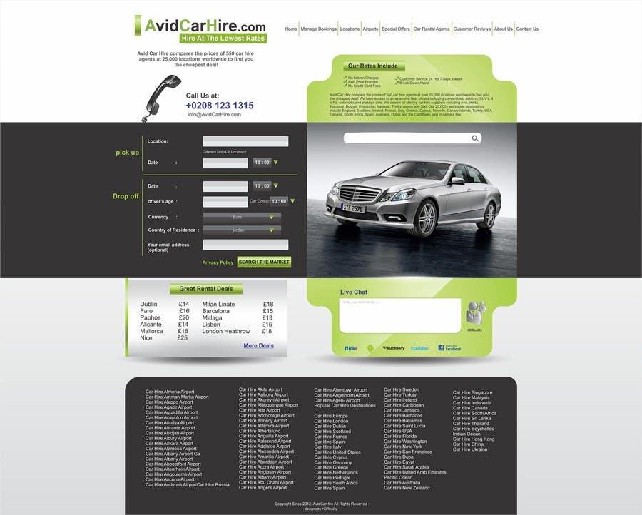 Inscrição nº                                         36                                      do Concurso para                                         Website Design for Avid Car Hire