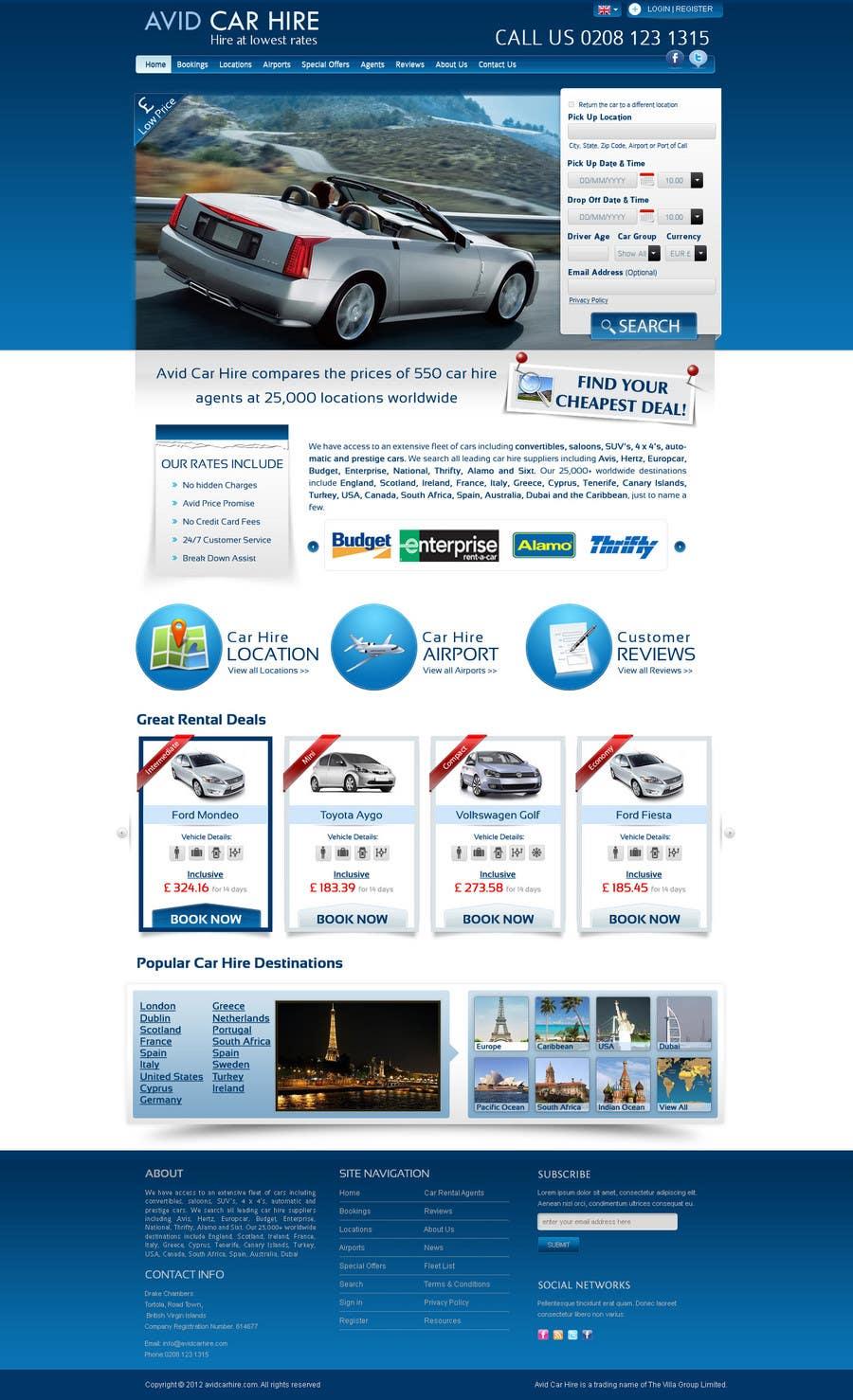 Inscrição nº                                         73                                      do Concurso para                                         Website Design for Avid Car Hire