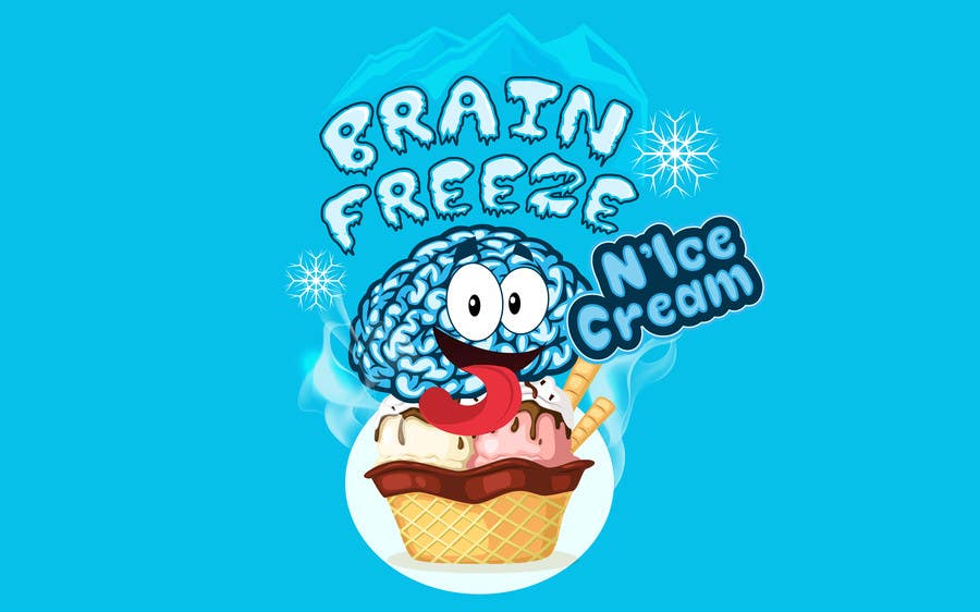 #48 for Develop a Sign for Brain Freeze NiceCream by BigBangPro