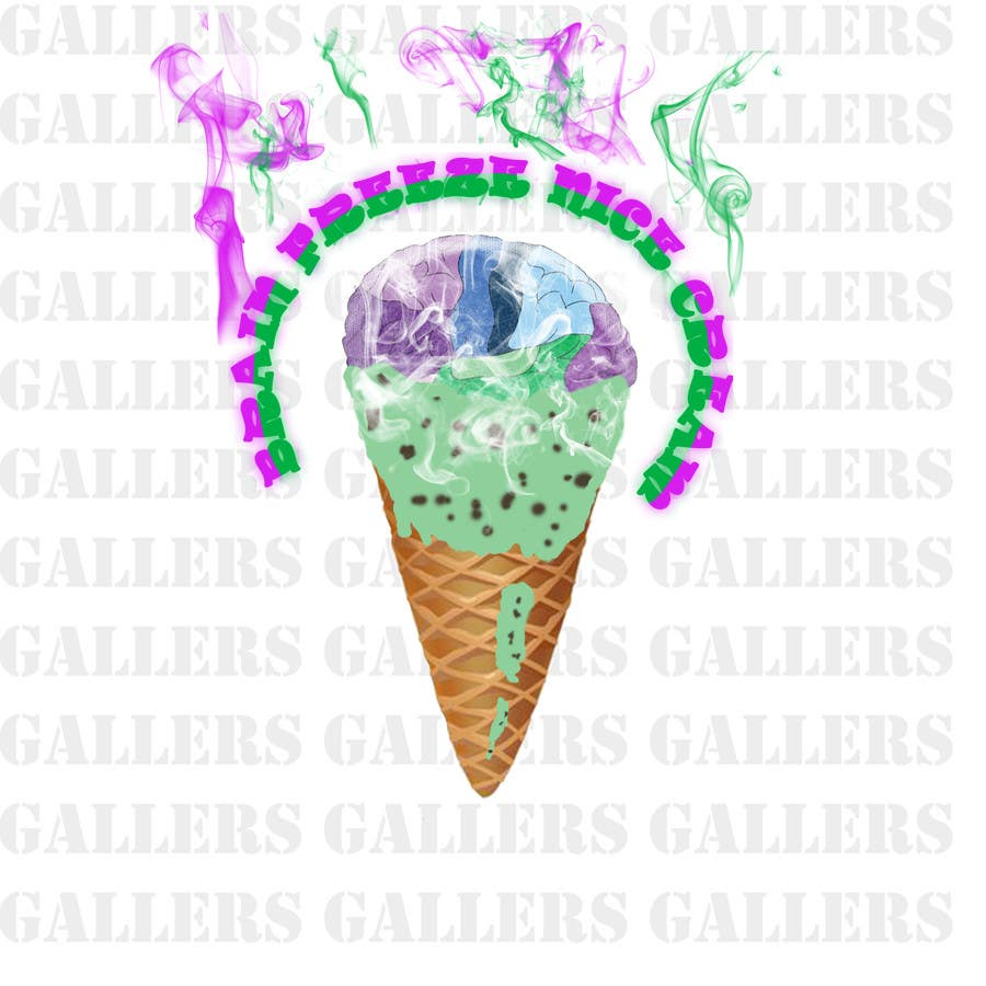 #36 for Develop a Sign for Brain Freeze NiceCream by gallers
