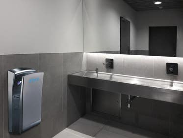#44 for Edit hand dryers into bathroom scene by youdrug