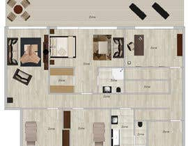 tijanapopovic tarafından Floor Plan Redesign for 2 Rooms için no 6