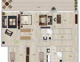 tijanapopovic tarafından Floor Plan Redesign for 2 Rooms için no 9
