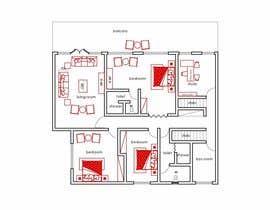 zeeree tarafından Floor Plan Redesign for 2 Rooms için no 17