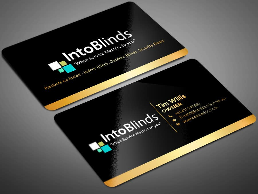 Entry #37 by Warna86 for Design a Business Card for a Blinds Company ...