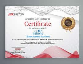 design a authorised dealership certificate freelancer