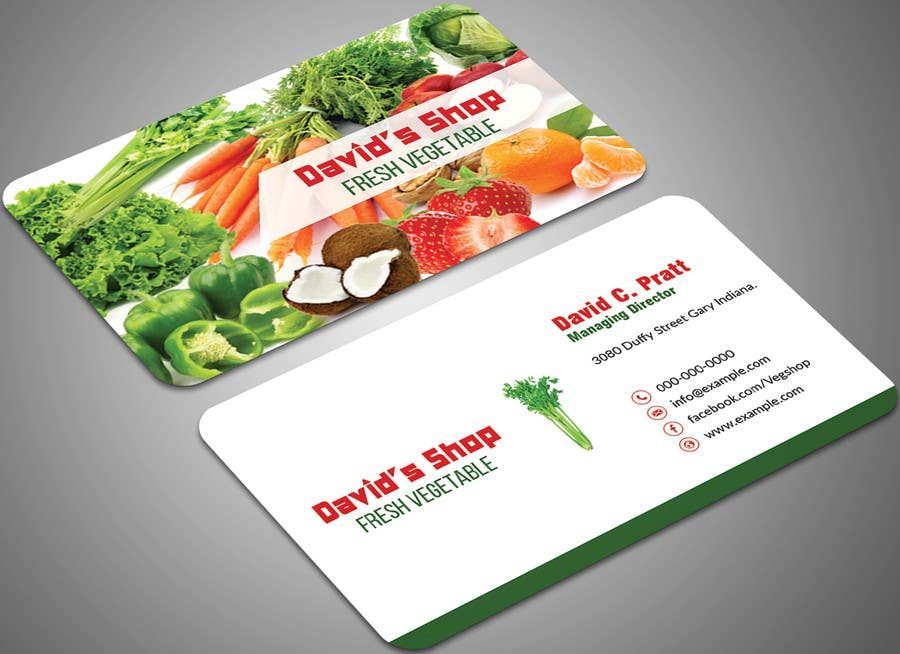Entry #42 by mehfuz780 for Design a Business card for Vegetable shop ...