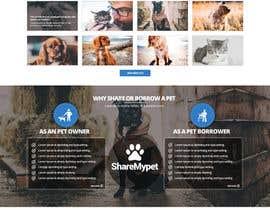 Nro 83 kilpailuun Design a Website Mockup for a pet site käyttäjältä nikil02an