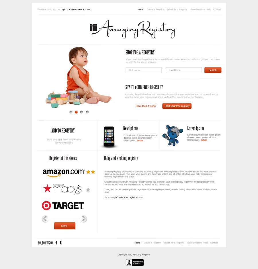 Конкурсная заявка №25 для Website Design for Amazing Registry.com, Inc.