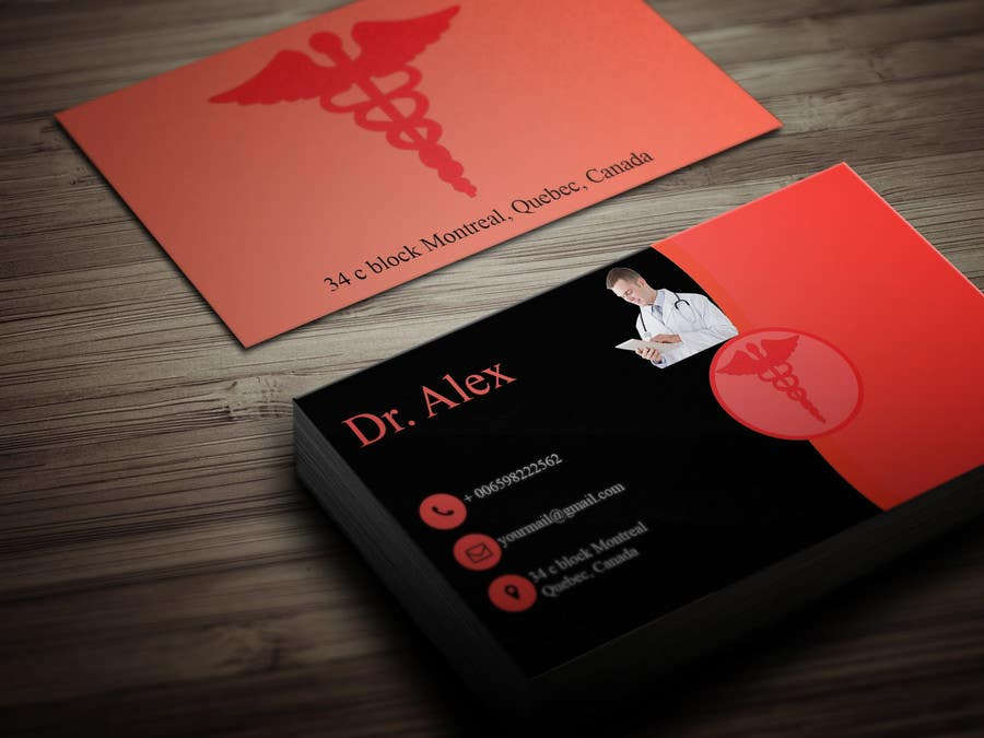 Entry #127 by iqbalhossain96 for Design a Business Card for a Doctor ...