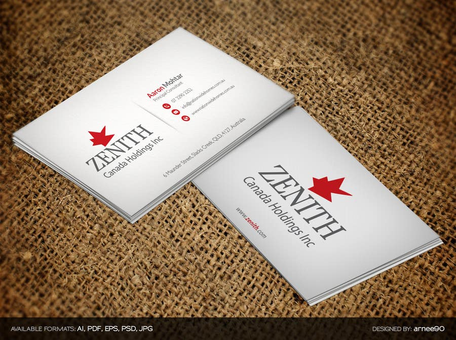 Entry #7 by arnee90 for Design a classy Business Card | Freelancer