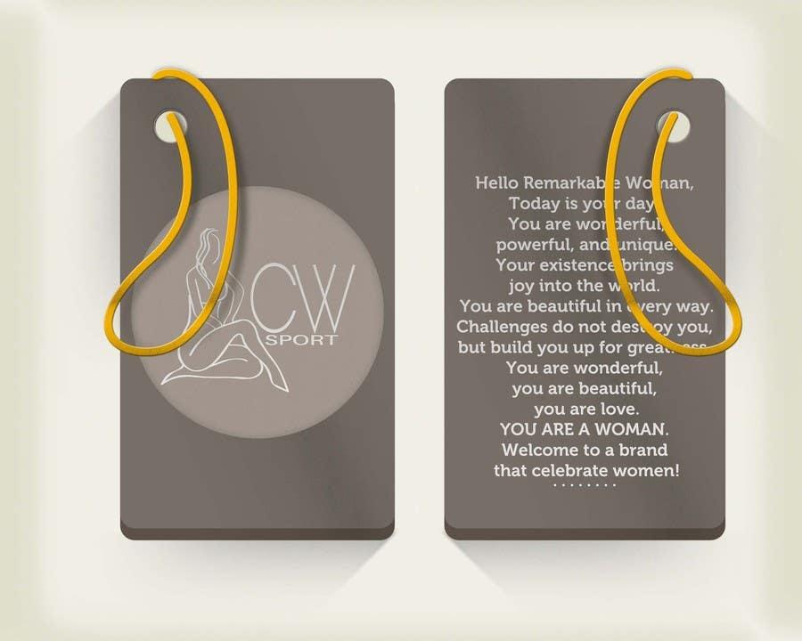 Inscrição nº                                         5                                      do Concurso para                                         Create hang tag for clothing, backdrop, and Packaging Designs