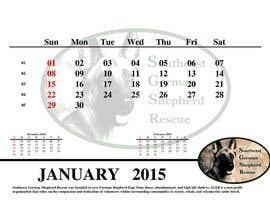 #6 para Design a Calendar for Southeast German Shepherd Rescue por Sebi71