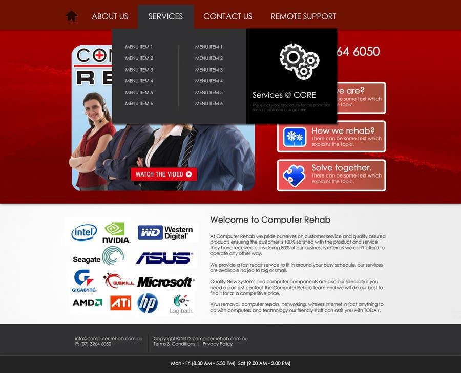 Конкурсная заявка №2 для Website Design for Computer Rehab