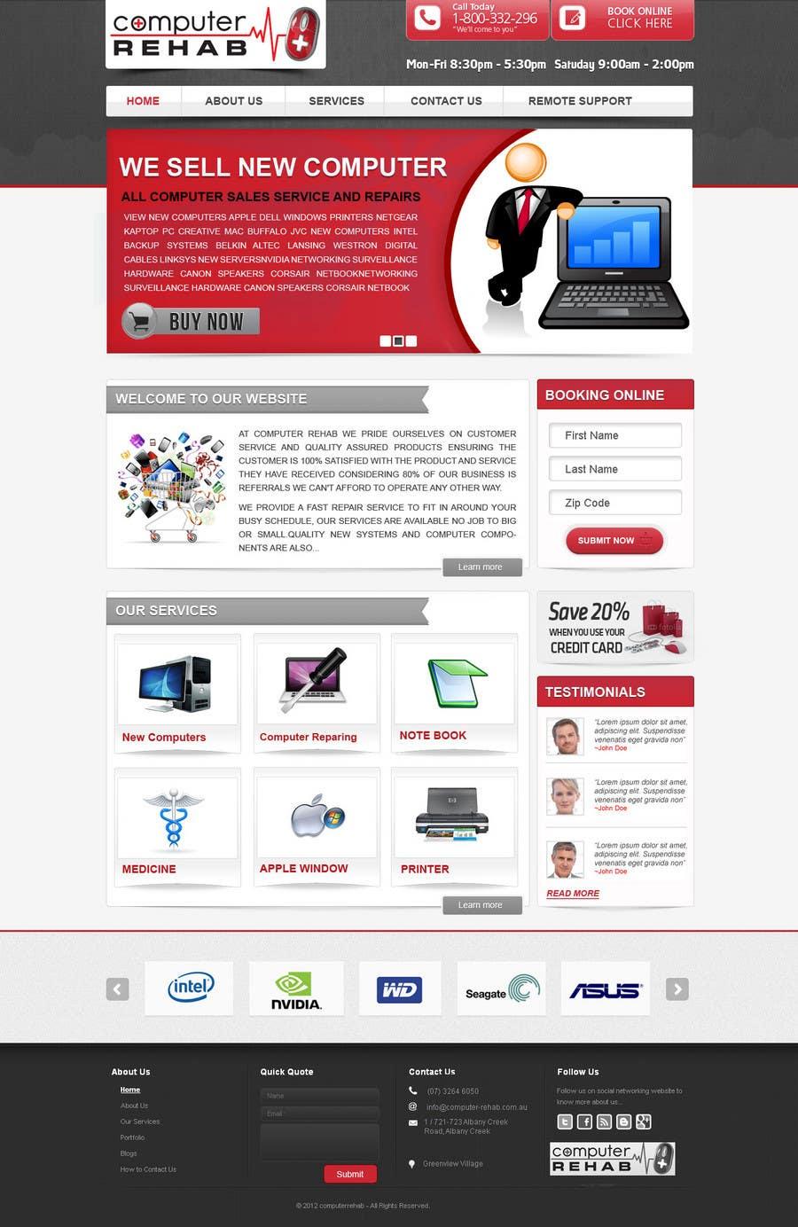 Конкурсная заявка №49 для Website Design for Computer Rehab